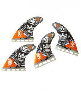 Set 4 Quilhas SUP Quad 110 Orange