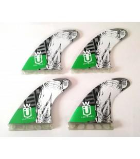 Set 4 Quilhas SUP Quad 110 Green